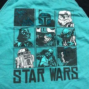 Star Wars Shirts & Tops - Star Wars baseball tee small 5-6